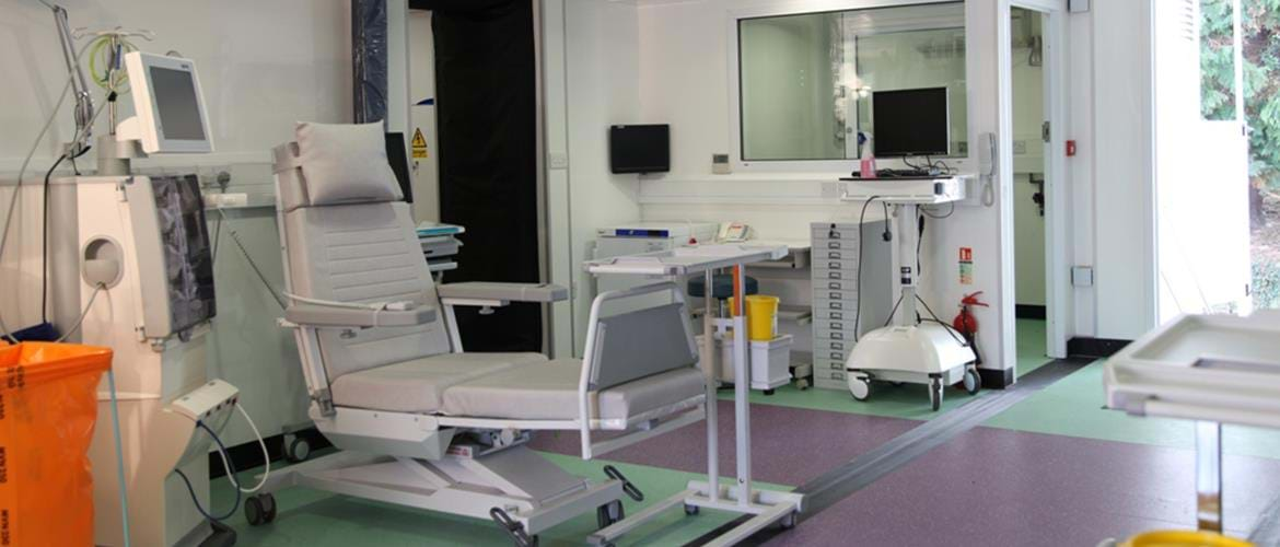 Dialysis Treatment Trailers King's College Hospital (2)
