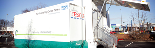 Tenovus Medical Trailer
