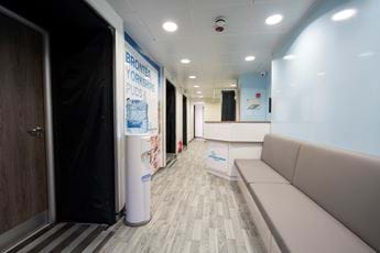 Mobile Lung Screening Unit Reception Area
